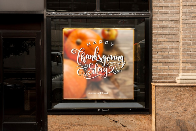 Maquette du panneau d'affichage pour thanksgiving