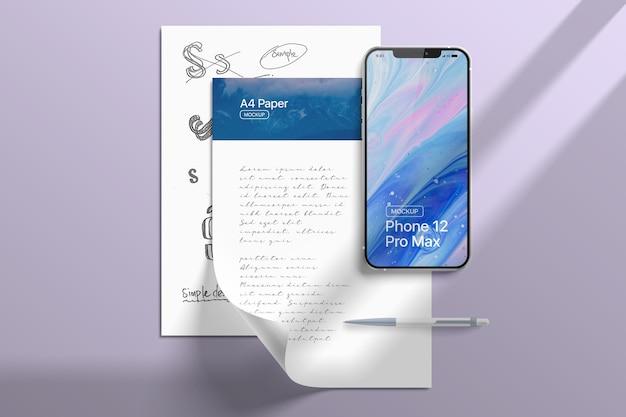 Maquette du smartphone 12 pro max