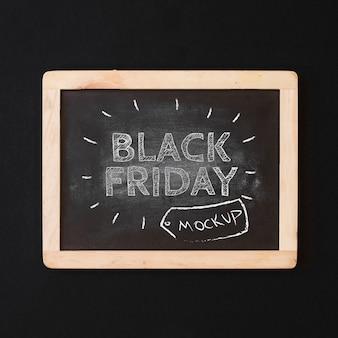 Maquette du vendredi noir avec ardoise