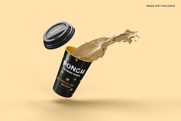 Maquette d'éclaboussure de tasse de café