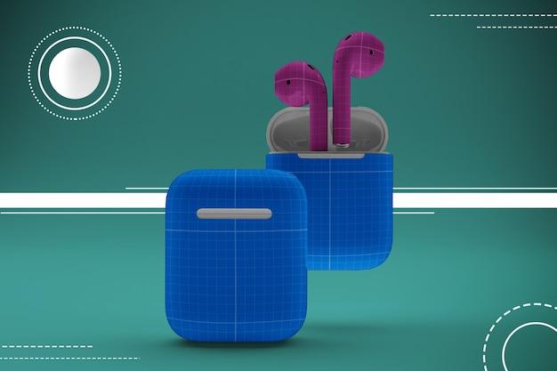 Maquette d'écouteurs abstraite