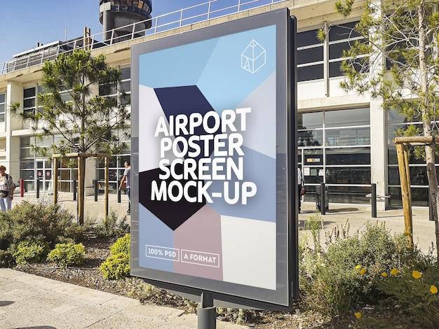 Maquette d'écran d'affiche d'aéroport