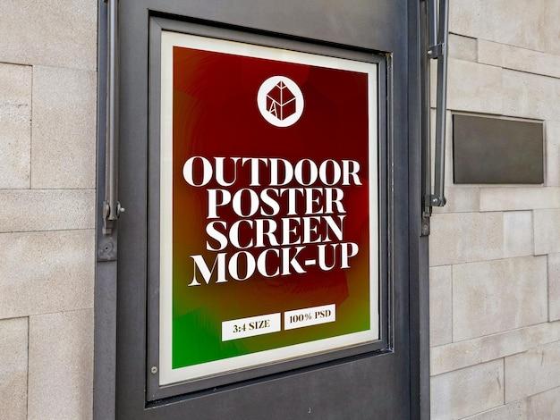 Maquette d'écran d'affiche extérieure