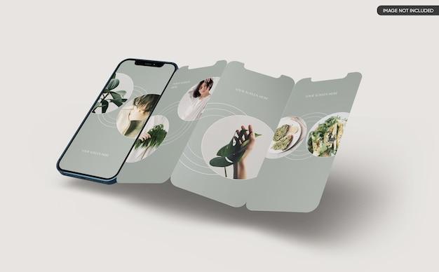 Maquette d'écran d'application pour smartphone