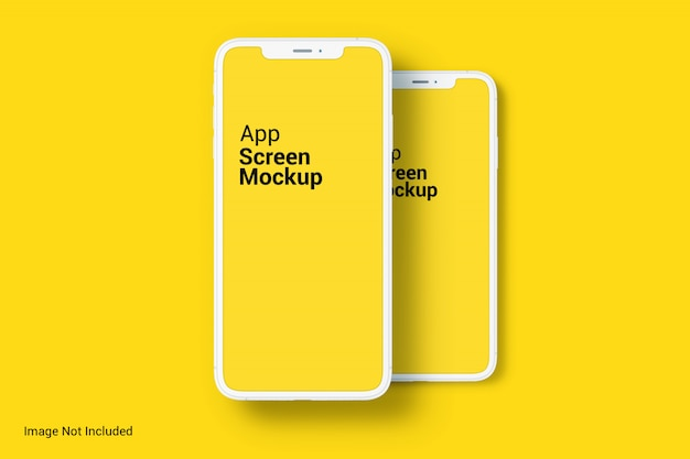 Maquette d'écran de l'application