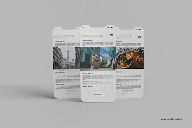 Maquette d'écran d'application