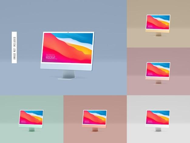 Maquette d'écran de bureau isolé
