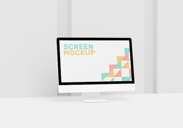 Maquette d'écran de bureau d'ordinateur