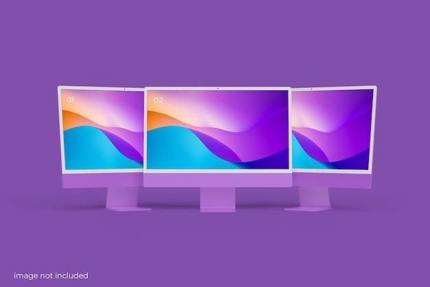 Maquette d'écran de bureau pc minimaliste
