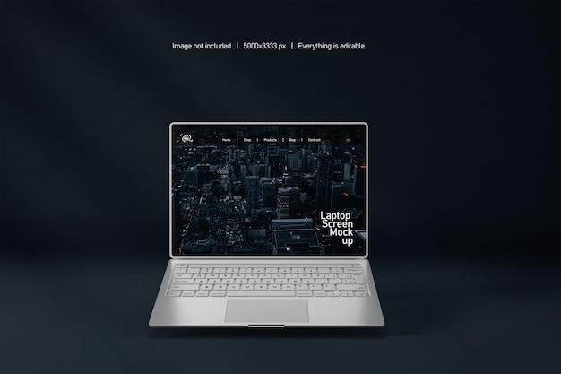 Maquette d'écran d'ordinateur portable isolée