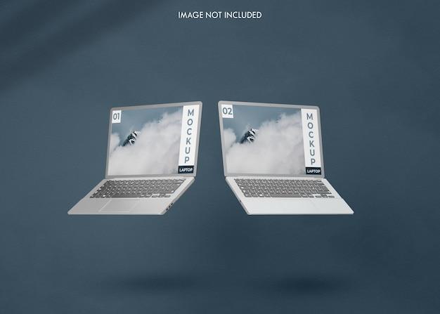 Maquette d'écran d'ordinateur portable réaliste
