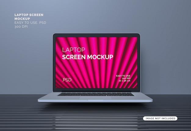Maquette d'écran d'ordinateur portable