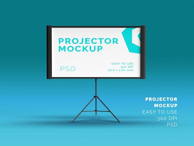 Maquette d'écran de projecteur
