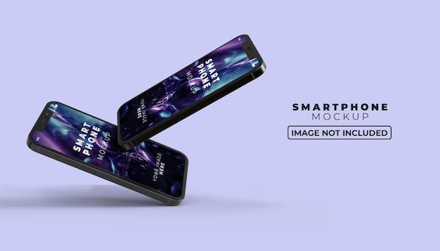 Maquette d'écran de smartphone 3d