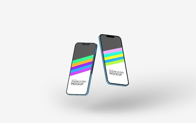 Maquette d'écran de smartphone iphone 13 pro