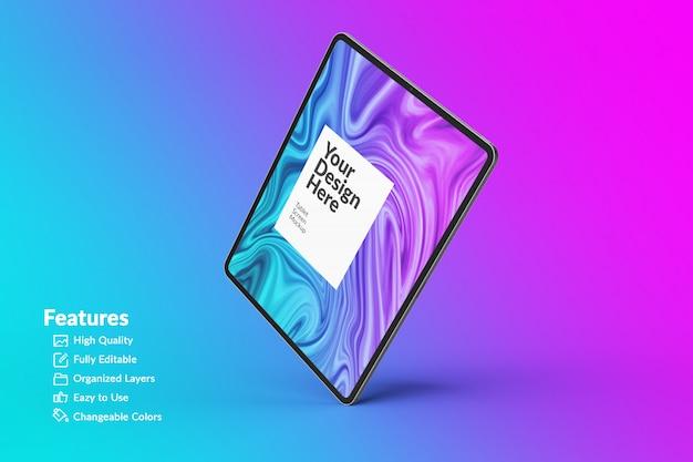 Maquette d'écran de tablette numérique modifiable
