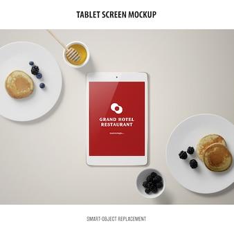 Maquette d'écran de tablette