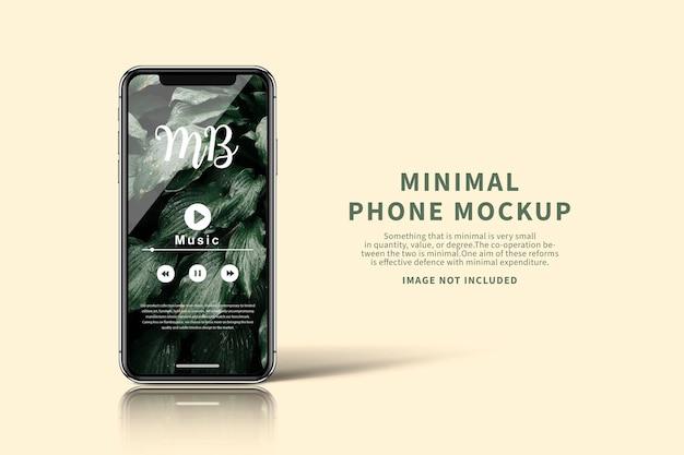Maquette d'écran de téléphone minimale