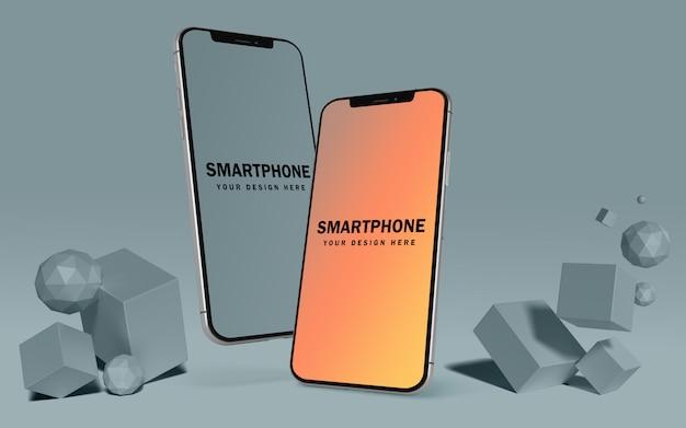 Maquette D'écran De Téléphone Mobile Flottant Psd Gratuit PSD Premium