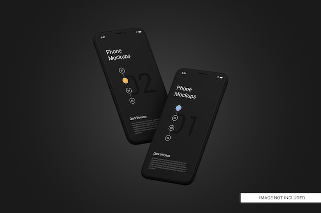 Maquette d'écran de téléphone portable noir
