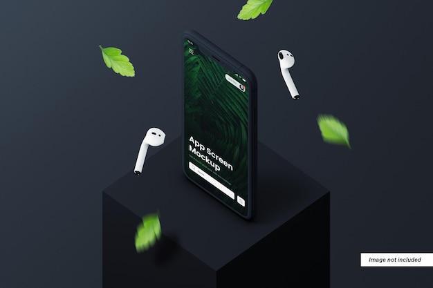 Maquette d'écran de téléphone