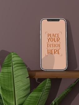 Maquette d'écran vide sans cadre pour smartphone
