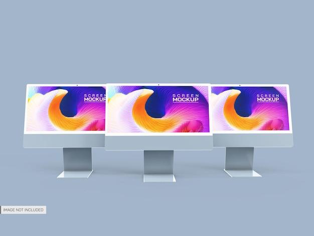 Maquette d'écrans de bureau isolés