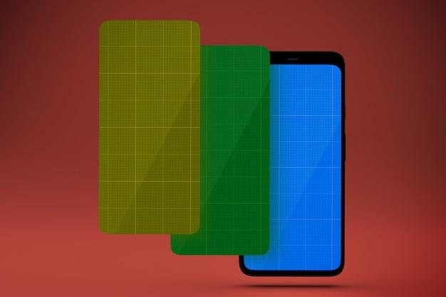 Maquette des écrans mobiles