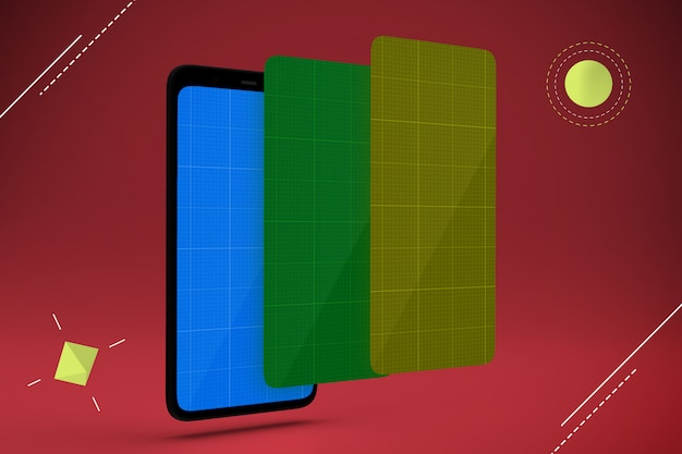 Maquette d'écrans mobiles