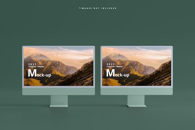 Maquette d'écrans d'ordinateur de bureau