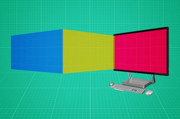 Maquette d'écrans d'ordinateur