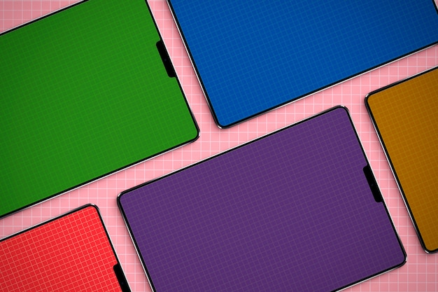 Maquette d'écrans de tablettes