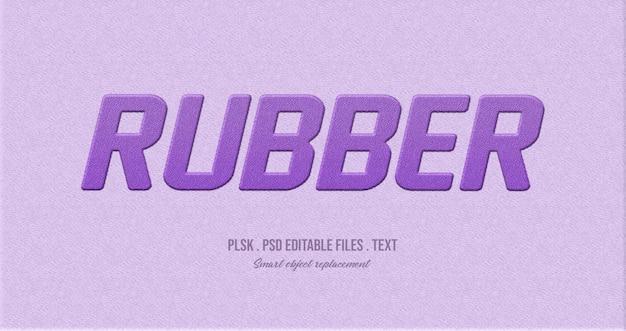 Maquette d'effet de style de texte 3d en caoutchouc