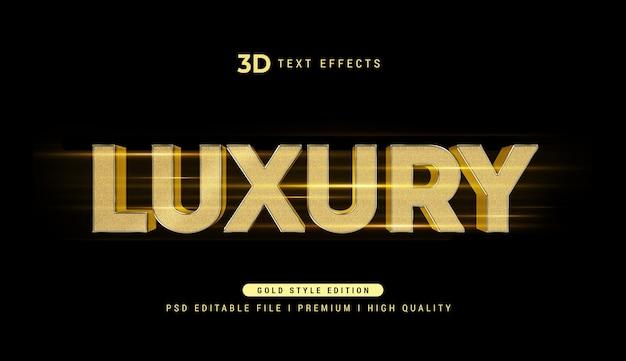 Maquette d'effet de style de texte 3d de luxe