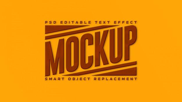 Maquette effet texte 3d or et marron premium
