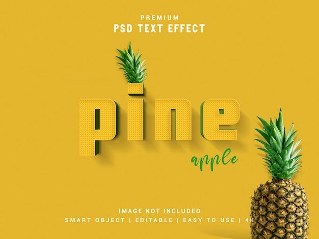Maquette d'effet de texte ananas.
