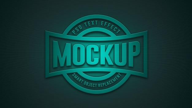 Maquette d'effet de texte bleu 3d premium