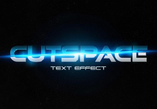 Maquette d'effet de texte bleu et argent