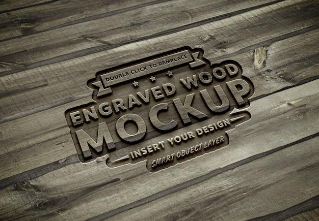 Maquette effet texte en bois sculpté