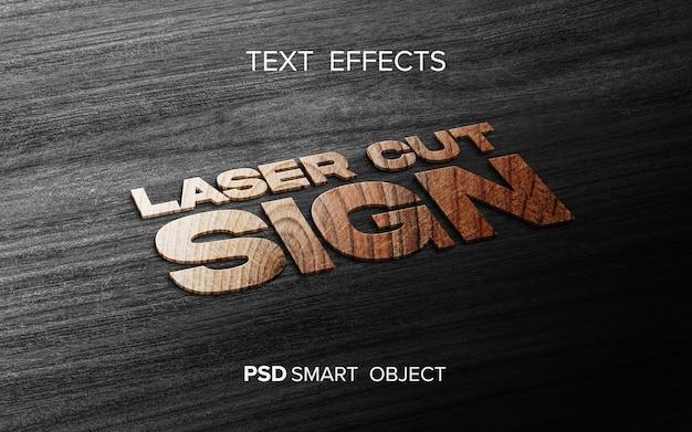 Maquette d'effet de texte en bois