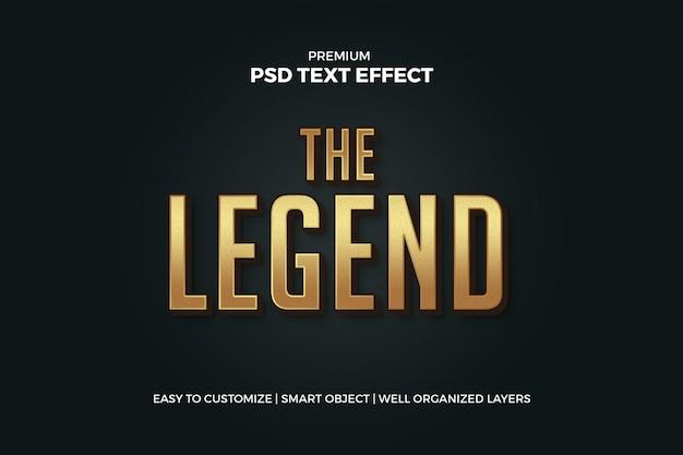 Maquette d'effet de texte doré