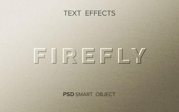 Maquette d'effet de texte firefly