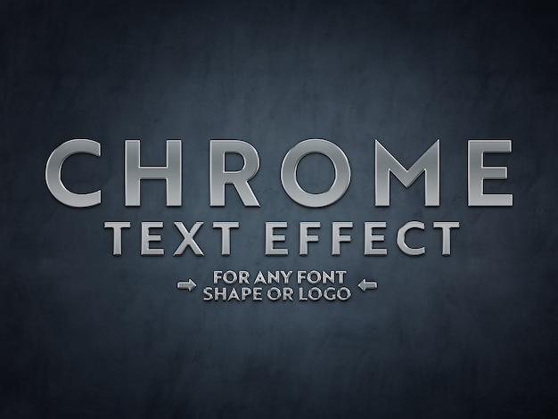 Maquette à effet de texte en métal chromé
