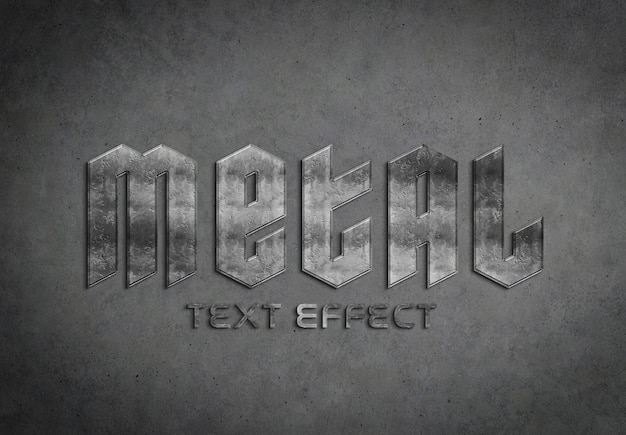 Maquette d'effet de texte en métal