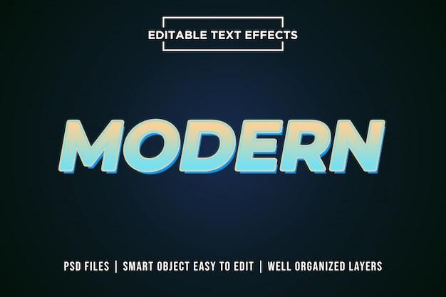 Maquette d'effet de texte modifiable en dégradé moderne