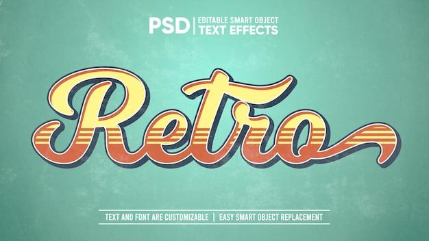 Maquette D'effet De Texte Modifiable En Papier Délavé Vintage PSD Premium