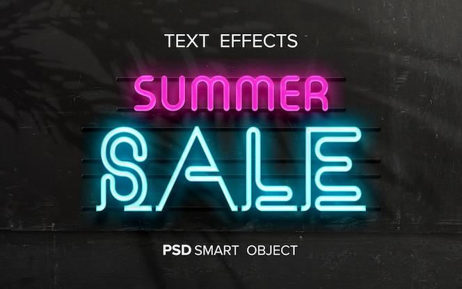 Maquette d'effet de texte néon