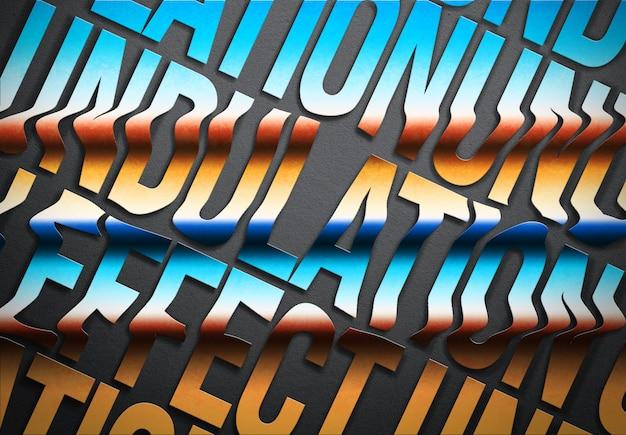 Maquette d'effet de texte ondulé
