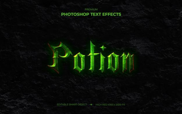 Maquette d'effet de texte de potion