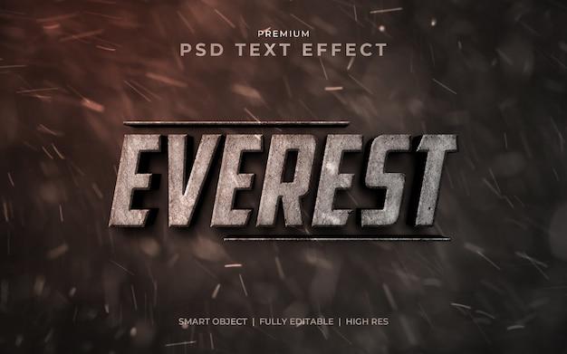 Maquette d'effet de texte psd everest